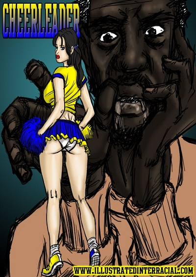 Cheerleaders- illustrated interracial