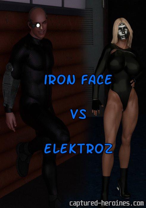 Iron Face vs Elektroz- Captured Heroines